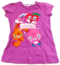 Purpurové tričko s moshi monsters zn. Debenhams