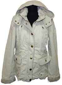 32f6771fe79 Dámská béžová manžestrová zateplená bunda s kapucí Orsay