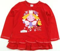 Outlet - Červené triko s Ben&Holly´s Little Kingdom zn. Marks&Spencer