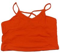 Oranžový crop top New look