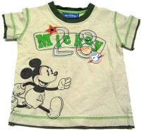 Khaki tričko s Mickey Mousem zn. Disney