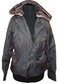 Dámská hnědá šusťáková zateplená bunda s kapucí Pineapple 5f9eb9bf3d