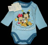 Outlet - Modré body s Minnie a Mickeym zn. Disney