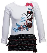 Outlet - Bílo-černá tunika s Minnie zn. Disney