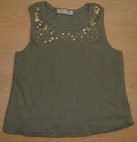 Khaki top s flitry zn. George