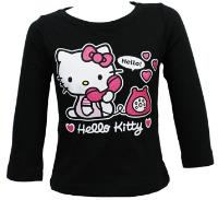 Outlet - Černé triko s Kitty zn. Sanrio