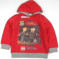Outlet - Červeno-šedá mikinka s kapucí Harry Potter zn. Lego