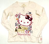 Smetanové triko s Hello Kitty zn. Marks&Spencer
