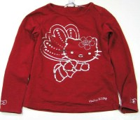 Červené triko s Hello Kitty zn.H&M vel.104-116