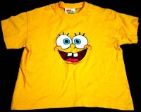 Žluté tričko Spongebob zn. Fruit of the Loom