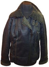 7d4f1211cad Dámská černá semišová zateplená bunda F F