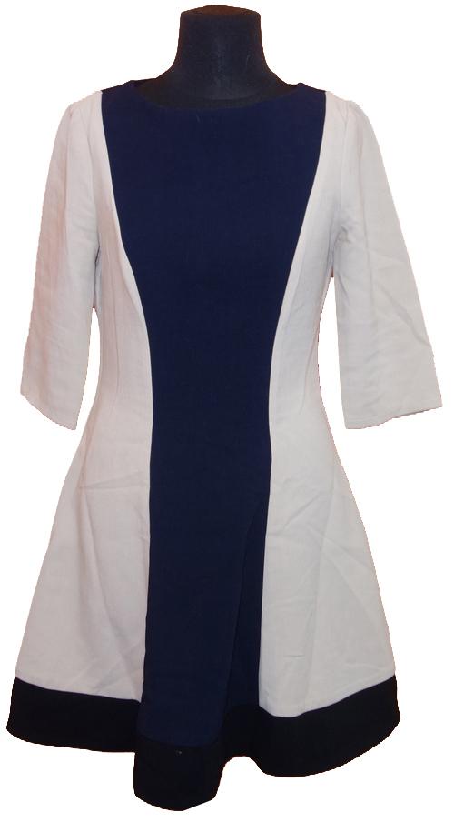 c2e0393ae96 Dámské béžovo-černé šaty Topshop