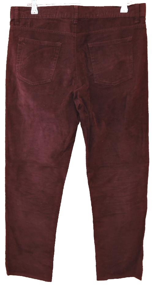 Pánské vínové manžestrové kalhoty EASY vel. 34 30 a3156f9862