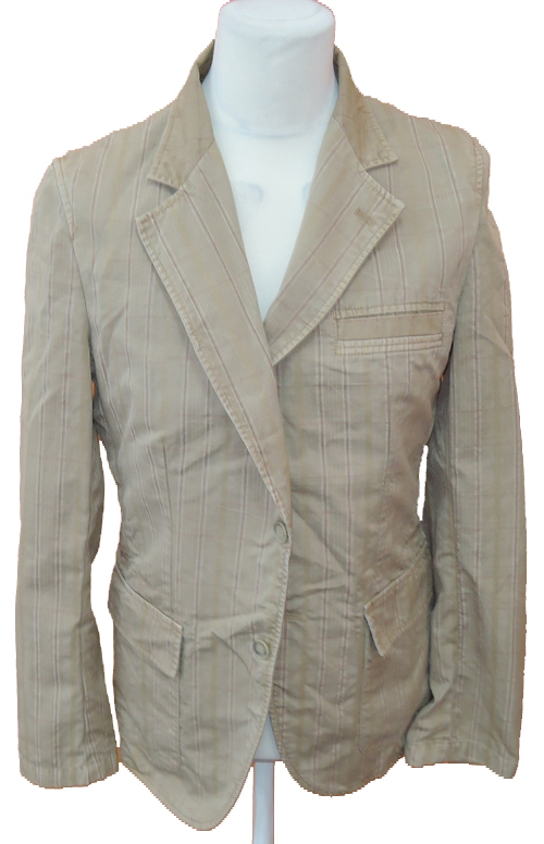 Pánské béžové kostkované plátěné sportovní sako Zara vel. L de9ba82e5a