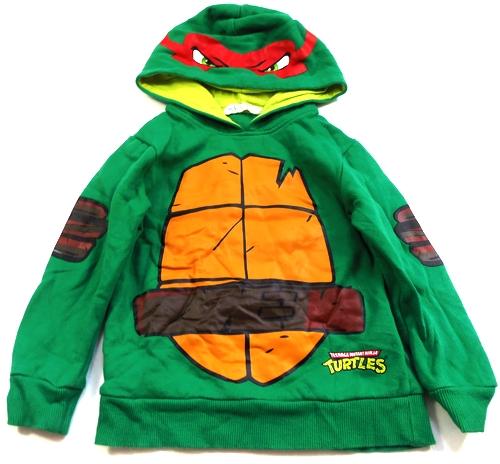 Zelená mikina s kapucí - Želva Ninja H M 792edc56ff