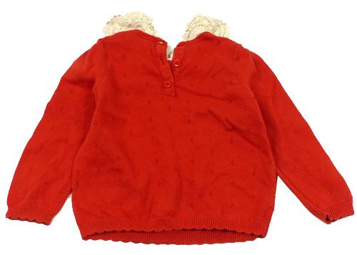b206e58f02f Červený svetr s límečkem zn. Mini club