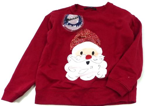 Červená vánoční mikina se Santou George  2193844e644