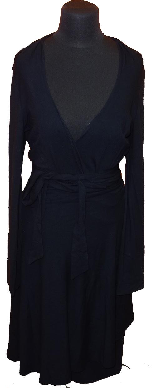03373e42e79b Dámské černé zavinovací šaty