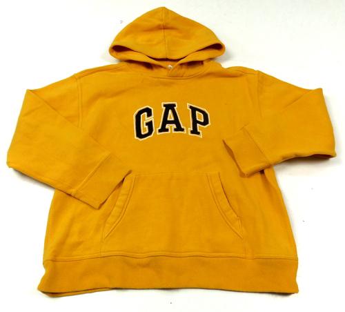 Žlutá mikina s logem a kapucí GAP  42c565c133
