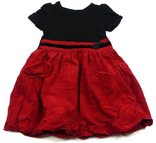 7ca11178a85 Černo-červené šaty s puntíky George
