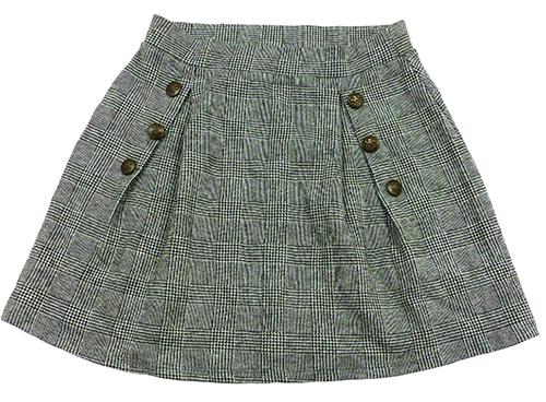 Černo-šedá vzorovaná sukně s knoflíky Next ef4abf983e