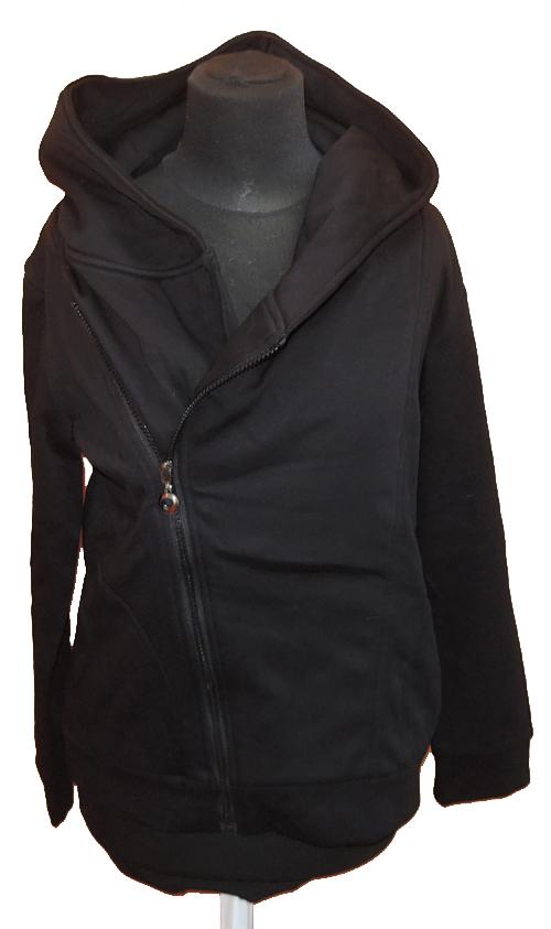 Dámský černý mikinový kabát s kapucí Milanoo vel. M 62aa4e7ad8