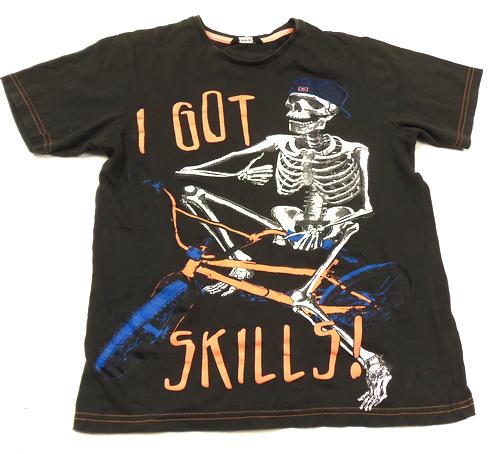 Černé tričko s kostrou George  7006ef2f77