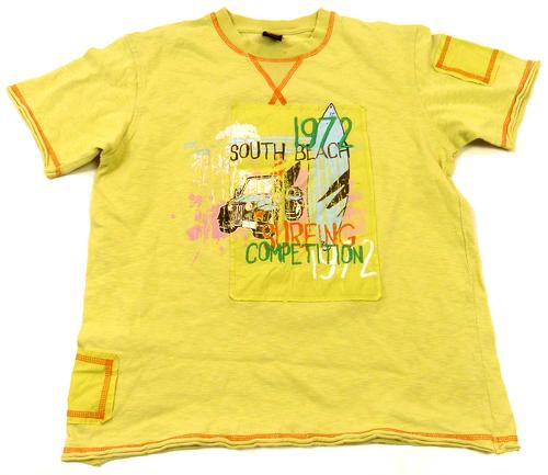 Žluté tričko s jeepem a číslem a nápisy Next 6fd4ad5351