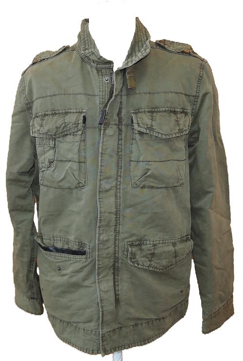 Pánská khaki plátěná podzimní bunda vel. L  cc22d76dbd