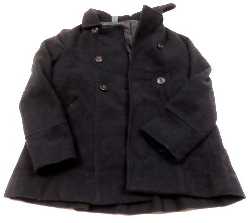 67fe7ec4b1 Černý vlněný zimní kabát Zara