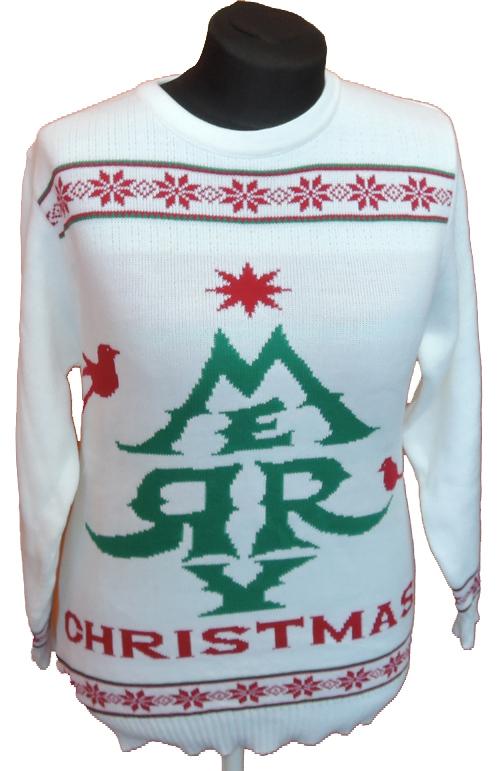 Pánský bílý vánoční svetr Mi Genie vel. M b06a1d7b54