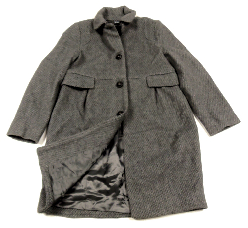 67af5b45cc Šedý vlněný zimní kabát Zara