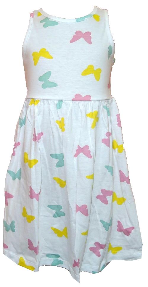 Nové - Bílé bavlněné letní šaty s motýlky Girly London ce9259bf43