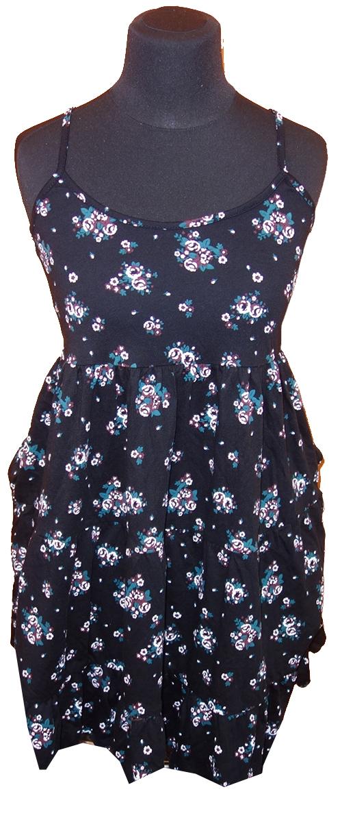 ce8ca7c04b7 Dámské černé květované šaty C A