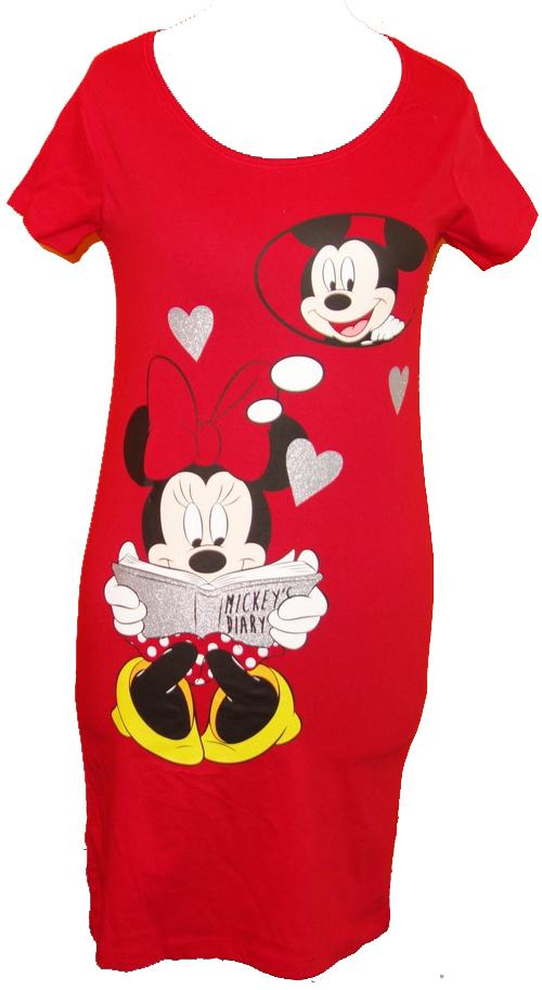 50e4c33b00c4 Nové - Dámská červená noční košile s Mickeym a Minnie Disney vel. S