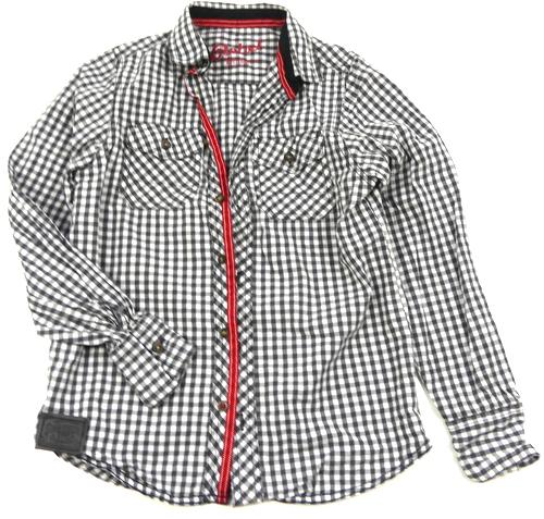 Bílo-černá kostkovaná košile Rebel  90a7f8851c