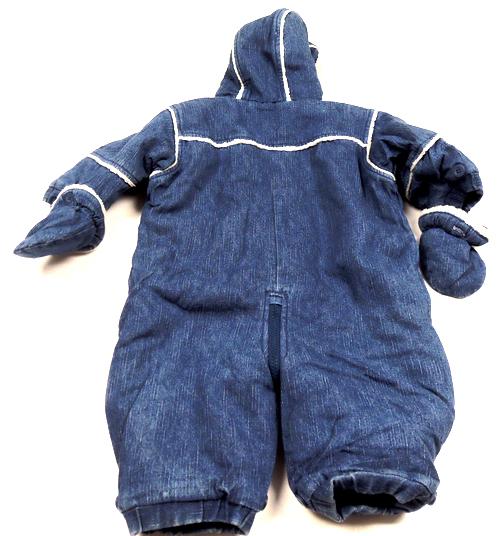 2aa2e9a25de Modrá riflová zimní kombinéza s Pú+rukavičky ...